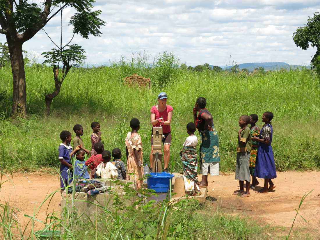 I Malawi fick Susanne och Rasmus möta många från lokalbefolkningen.