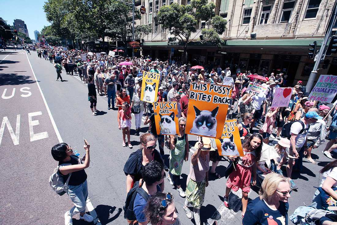 Women's March i Sydney.