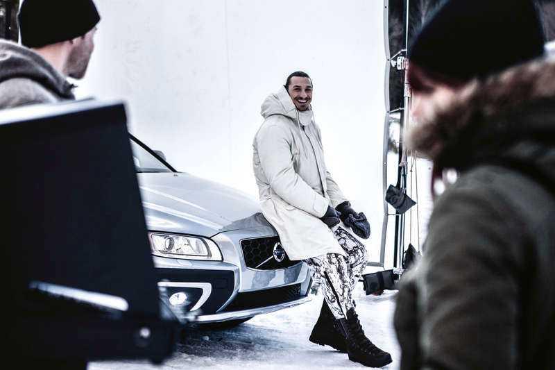 Zlatan gör reklam för Volvo.