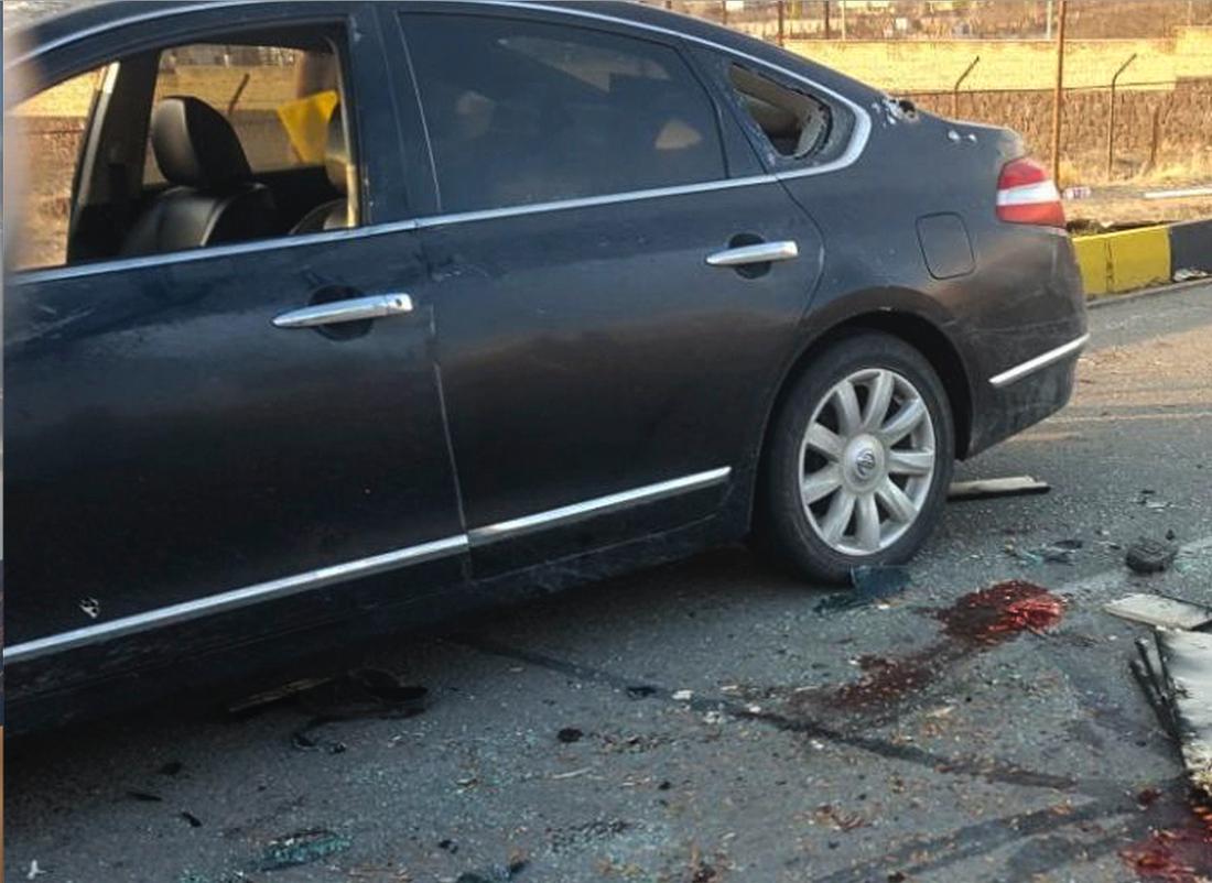 Bilen som Mohsen Fakhrizadeh färdades i.