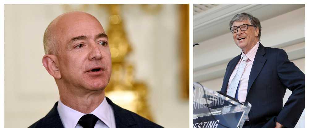 Jeff Bezos blir inom kort världens rikaste person när hans förmögenhet är större än Bill Gates.