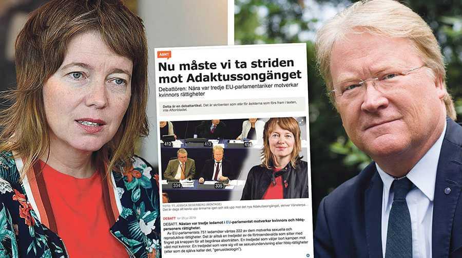 Att påstå sig värna kvinnors rätt till abort och samtidigt undergräva subsidiaritet och medlemsländernas egen beslutsrätt är att föra väljarna bakom ljuset, skriver Lars Adaktusson.