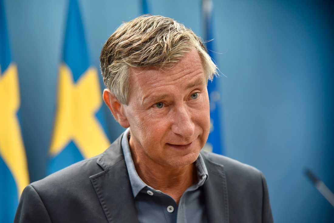 Sveriges vaccinsamordnare Richard Bergström bekräftar för TT att Sverige kommer att få färre vaccindoser nästa vecka. Arkivbild.