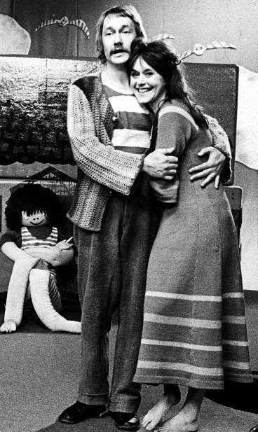 DÅ Gösta och Lena byggde klossar i  Mumlan  på 70-talet.