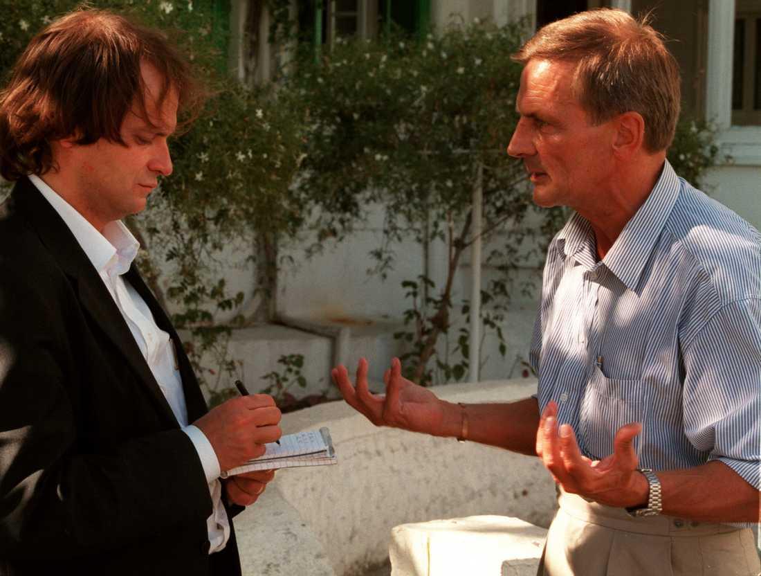 Aftonbladets reporter Leif Kasvi intervjuade Bertil Wedin på Norra Cypern i oktober 1996.
