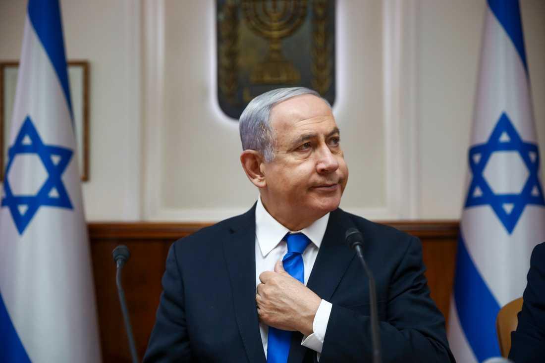 Framtiden är osäker för Israels premiärminister Benjamin Netanyahu, när landet går till nyval samtidigt som Netanyahu själv har ett hot om korruptionsåtal hängande över sig. Bild från juni 2019.