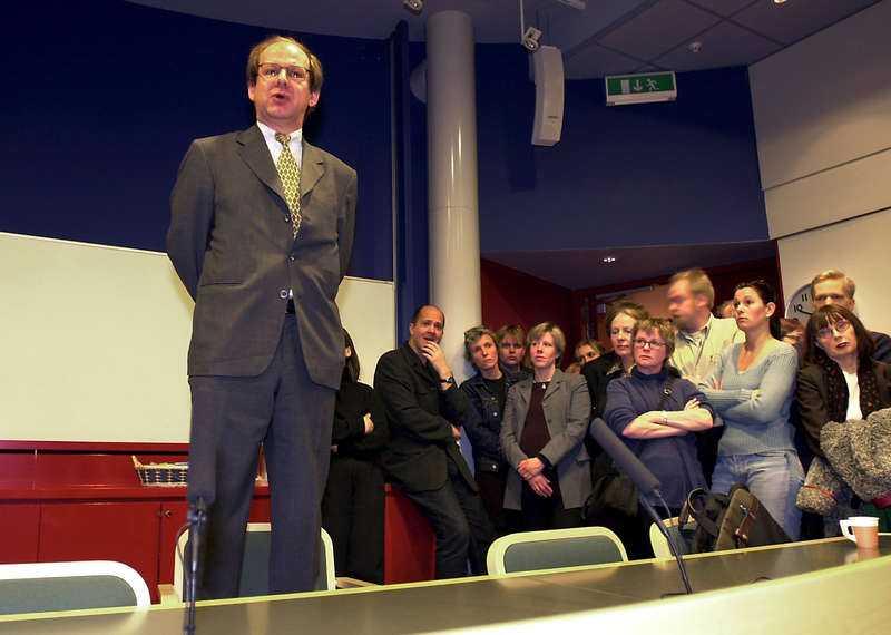 tog över Hans Bergström blev DN:s chefredaktör när Bonnierkoncernen genomförde en stor chefsrockad 2001.