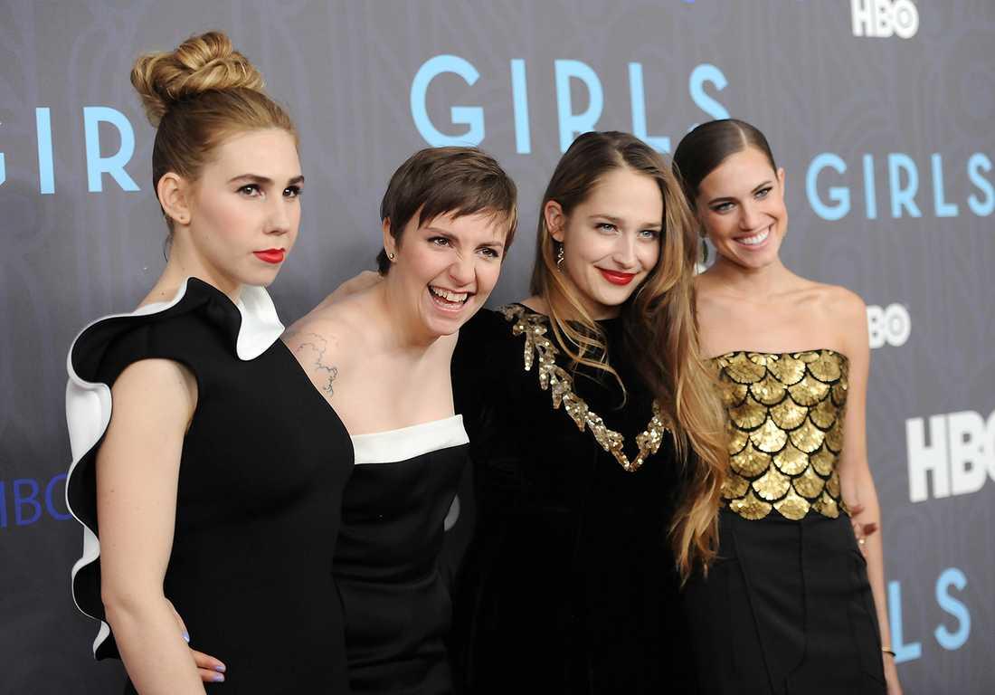 Zosia Mamet, Lena Dunham, Jemima Kirke och Allison Williams.