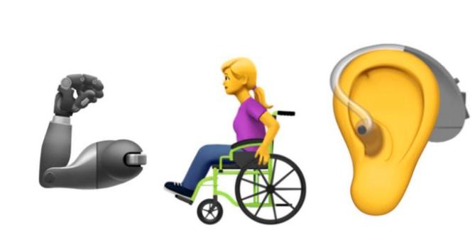 En protesarm, en rullstosburen person och ett öra med hörapparat: ja, det är några symboler som kan bli nya emojis – om Apple får bestämma.