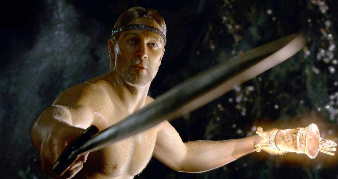 """Ray Winstone som Beowulf i filmen med samma namn från 2007. I nya boken """"Beowulfkvädet"""" hävdar arkeologiprofessor Bo Gräslund att kung Beowulf kom från sydöstra Gotland."""