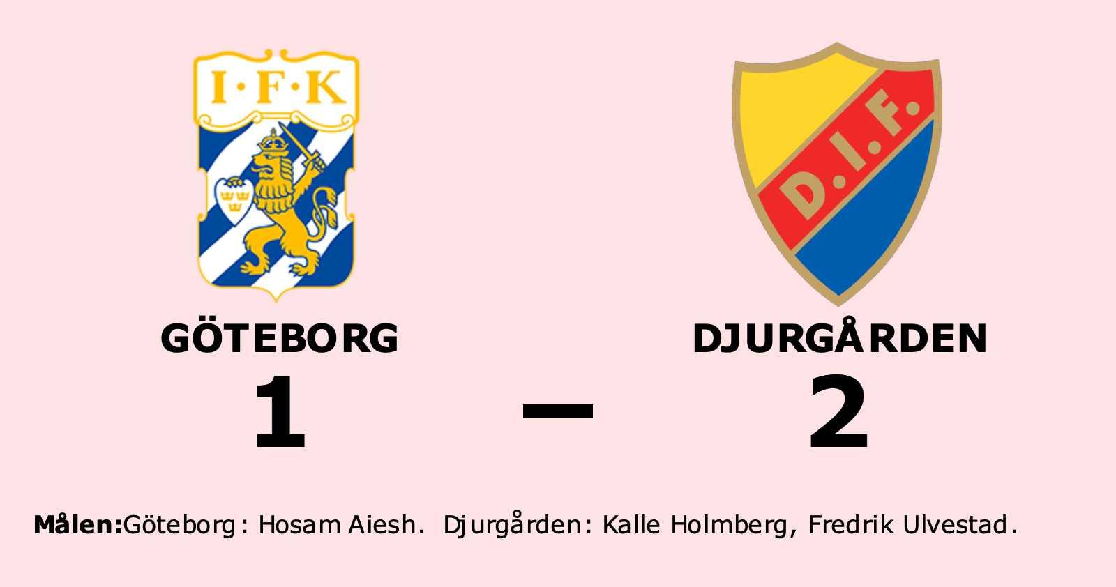 Djurgården vann trots uppryckning av Göteborg