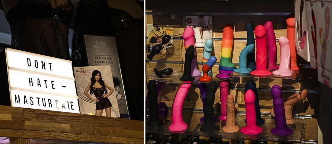 Sexualupplysare välkomnar den uppåtgående sexleksakstrenden. Här ett urval från butiken Love Store i Stockholm.