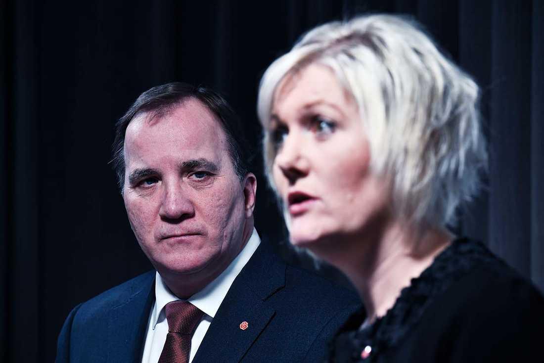 Lena Rådström Baastad, partisekreterare (S) är inte nöjd med siffran för partiet.