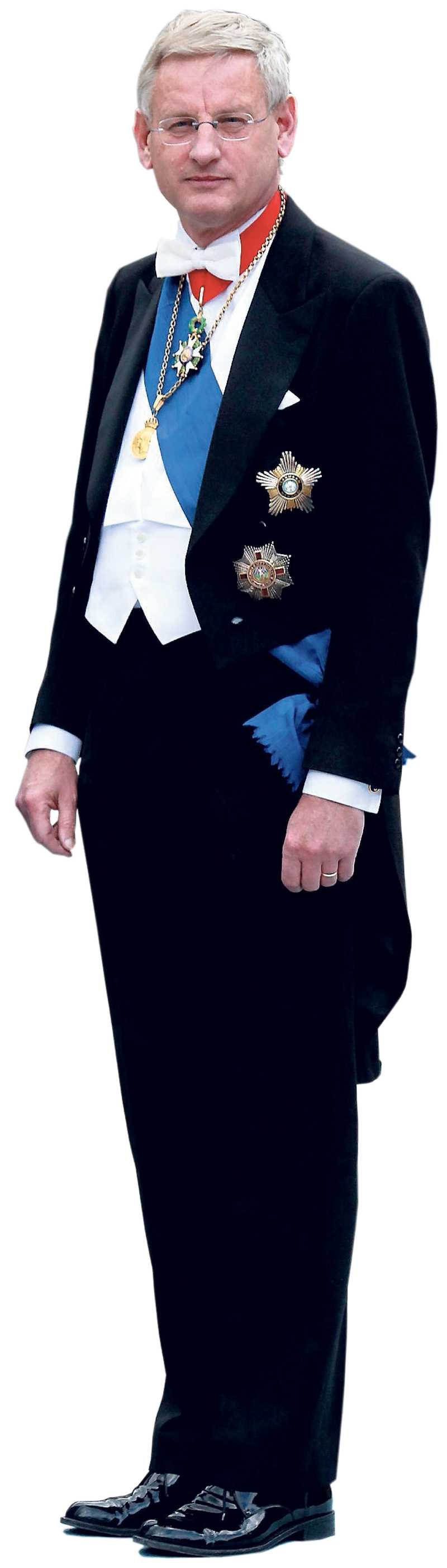 Carl Bildt – redo för kungamiddag.