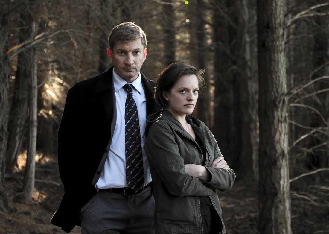 "David Wenham och Elisabeth Moss i ""Top of the Lake""."