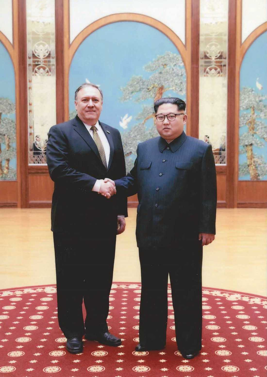 Kim Jong-un träffade USA:s utrikesminister Mike Pompeo i Pyongyang i helgen.