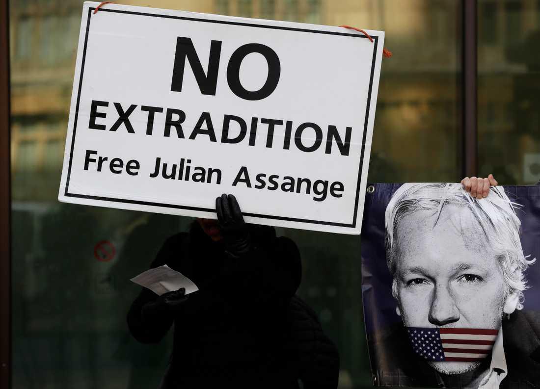 Julian Assange riskerar tiotals år i fängelse om han utlämnas till USA. Arkivbild.