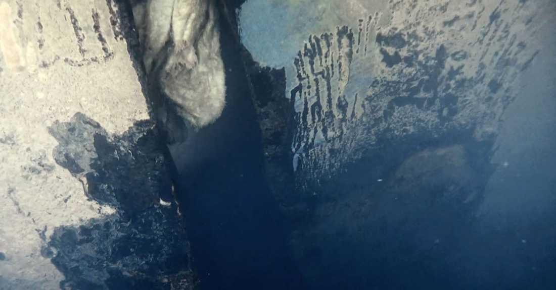 """Undervattensbild från den nya dokumentärserien """"Estonia – fyndet som ändrar allt""""."""