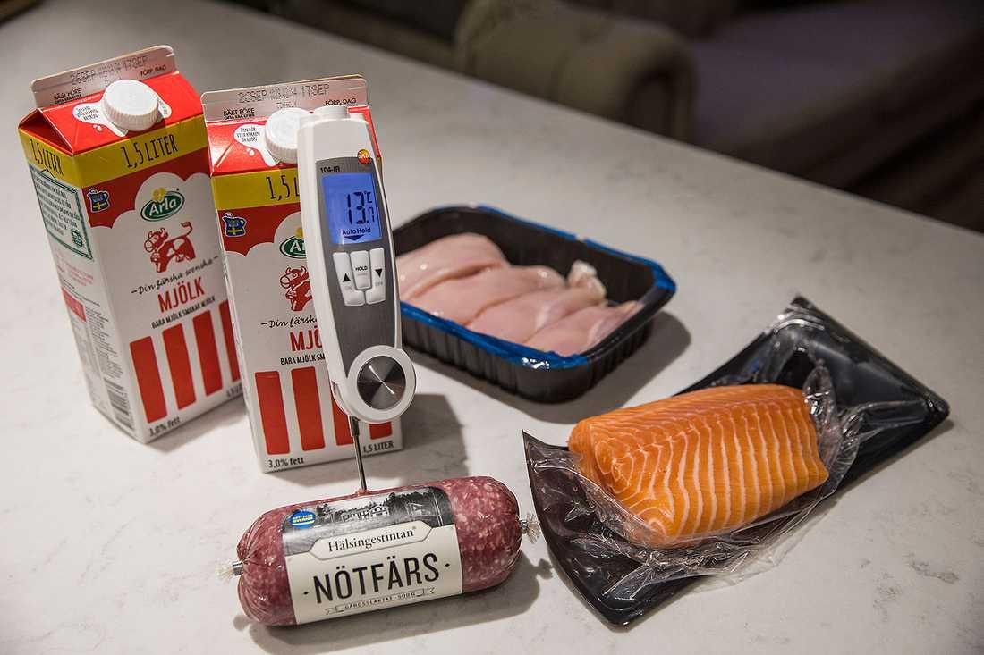 200 sekunder beställde tio matleveranser med kyckling, köttfärs, lax och mjölk.