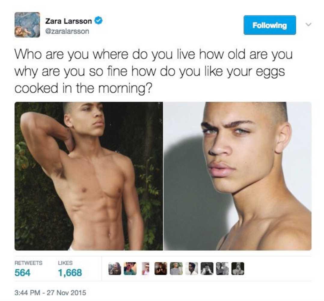 Zara Larsson tweet om Brian Whittaker