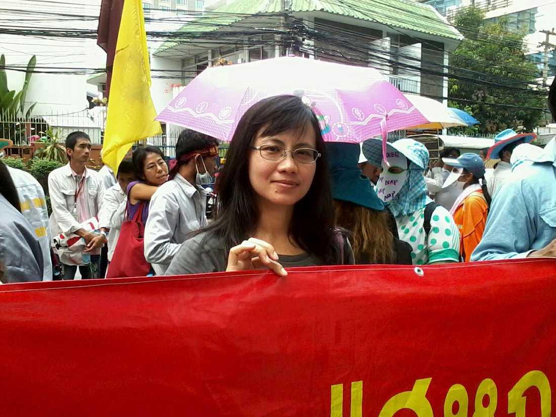 Patchanee Kumnak på Thai Labour Campaign.