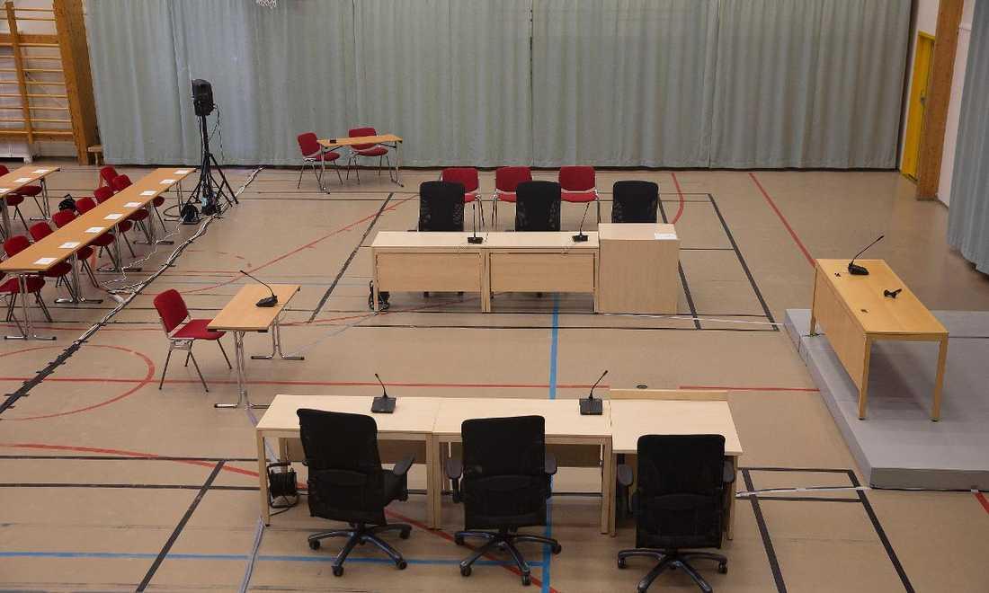 HAR INTE ÄNDRAT SIN IDEOLOGI Rättegången Anders Behring Breivik vs norska staten hålls i Telemarksfängelsets gymnastiksal i Skien.