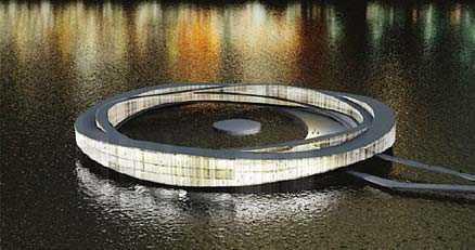 """Så här ser förslaget till """"badringen"""" i Riddarfjärden ut."""