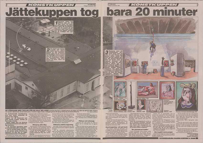 Aftonbladets artikel om kuppen.