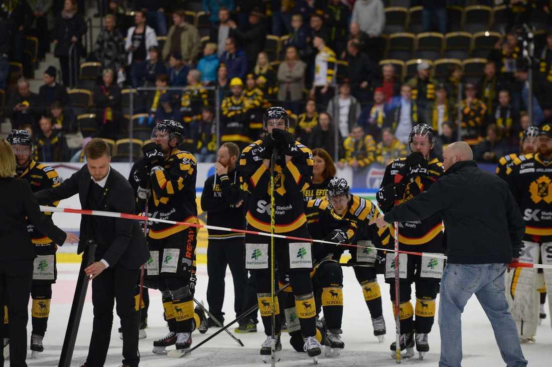 Depp i Skellefteå efter finalförlusten.