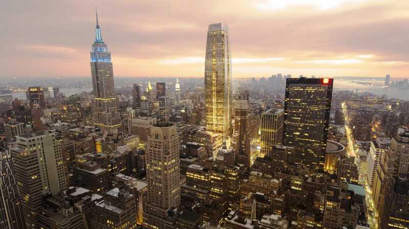 Så här kan det komma att se ut över Manhattan om arkitekterna får som de vill. Men motståndet mot den nya monsterskrapan är kompakt.