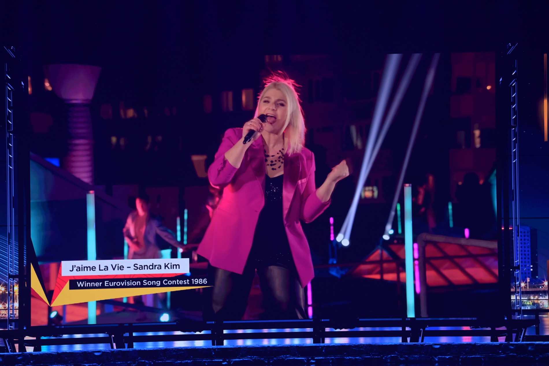 """Sandra Kim vann Eurovision 1986 med """"J'aime la vie"""". Nu framförde hon den igen som en del av den förinspelade mellanakten i Eurovision 2021"""