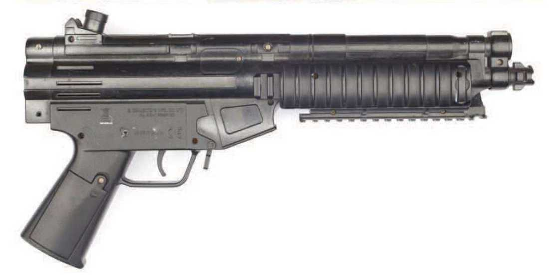 Leksaksvapnet som Eric Torell hade i sin hand.