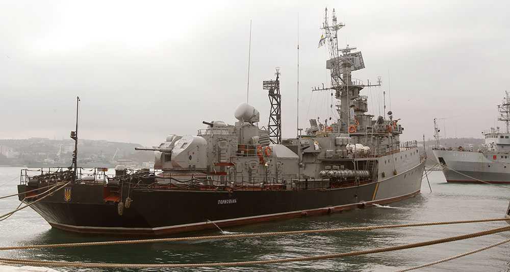 Ukrainska krigsfartyget Ternopil.