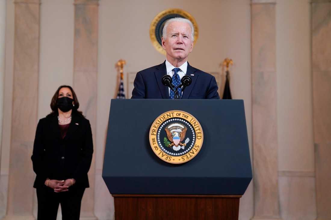 USA:s president Joe Biden talade från Vita huset efter det att domen mot den tidigare polismannen Derek Chauvin offentliggjorts.