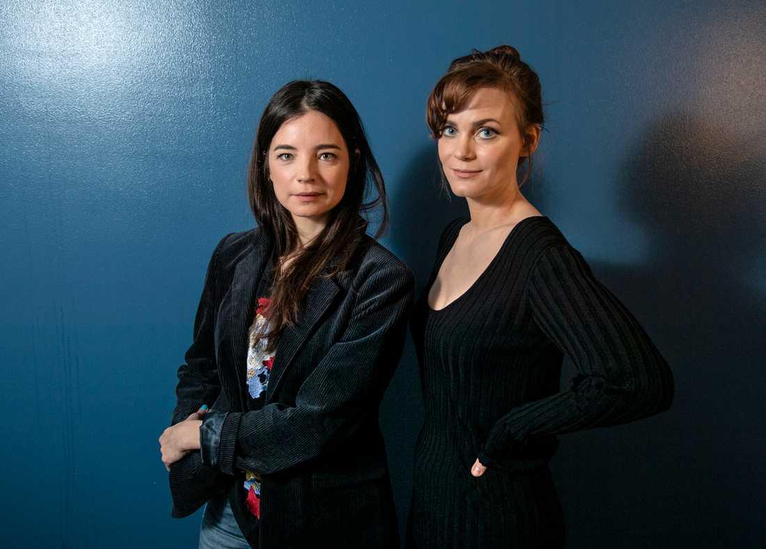 """Louise Peterhoff och Liv Mjönes spelar två av de bärande rollerna i """"Tsunami"""", en serie som utspelas med tsunamikatastrofen som fond."""