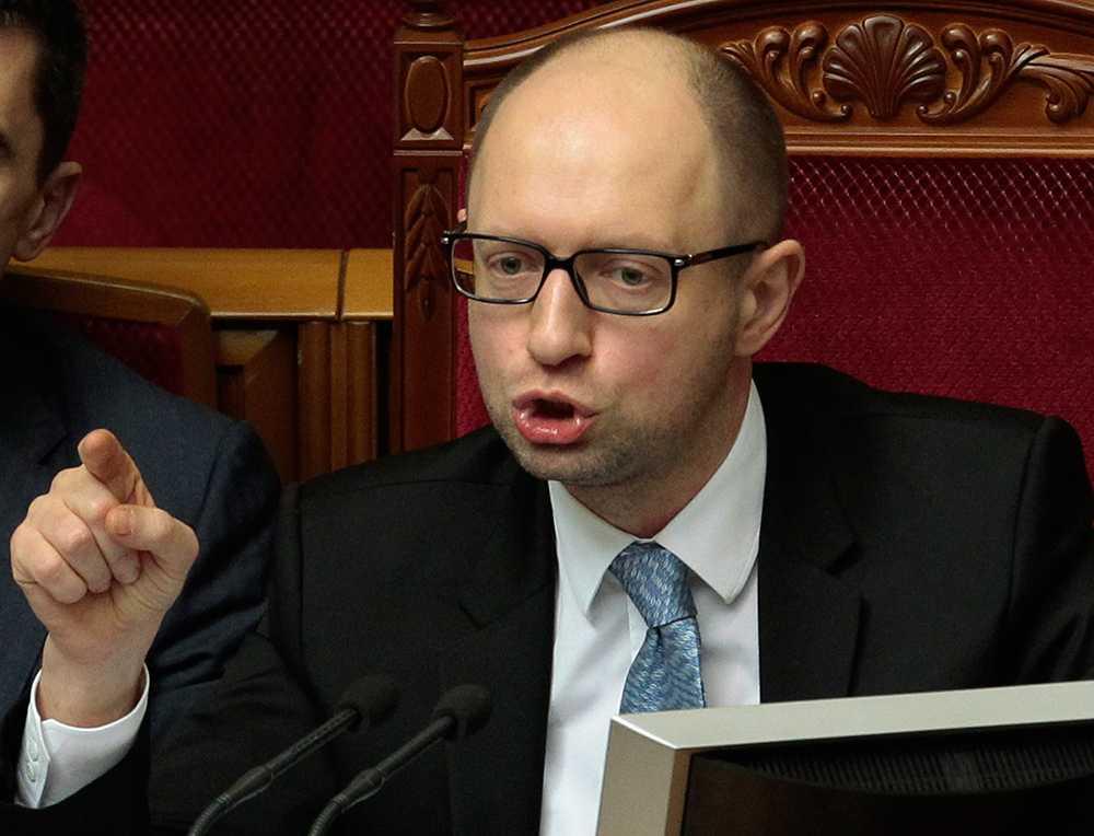 Ukrainas premiärminister Arsenij Jatsenjuk