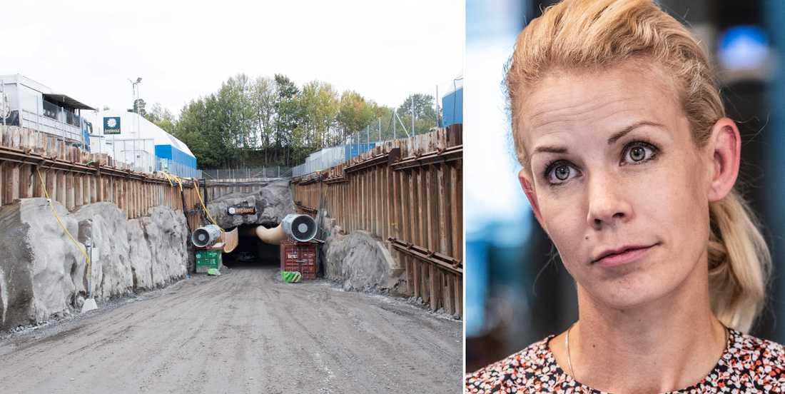 Tunnelbygget på Lovön/Anna König Jerlmyr.