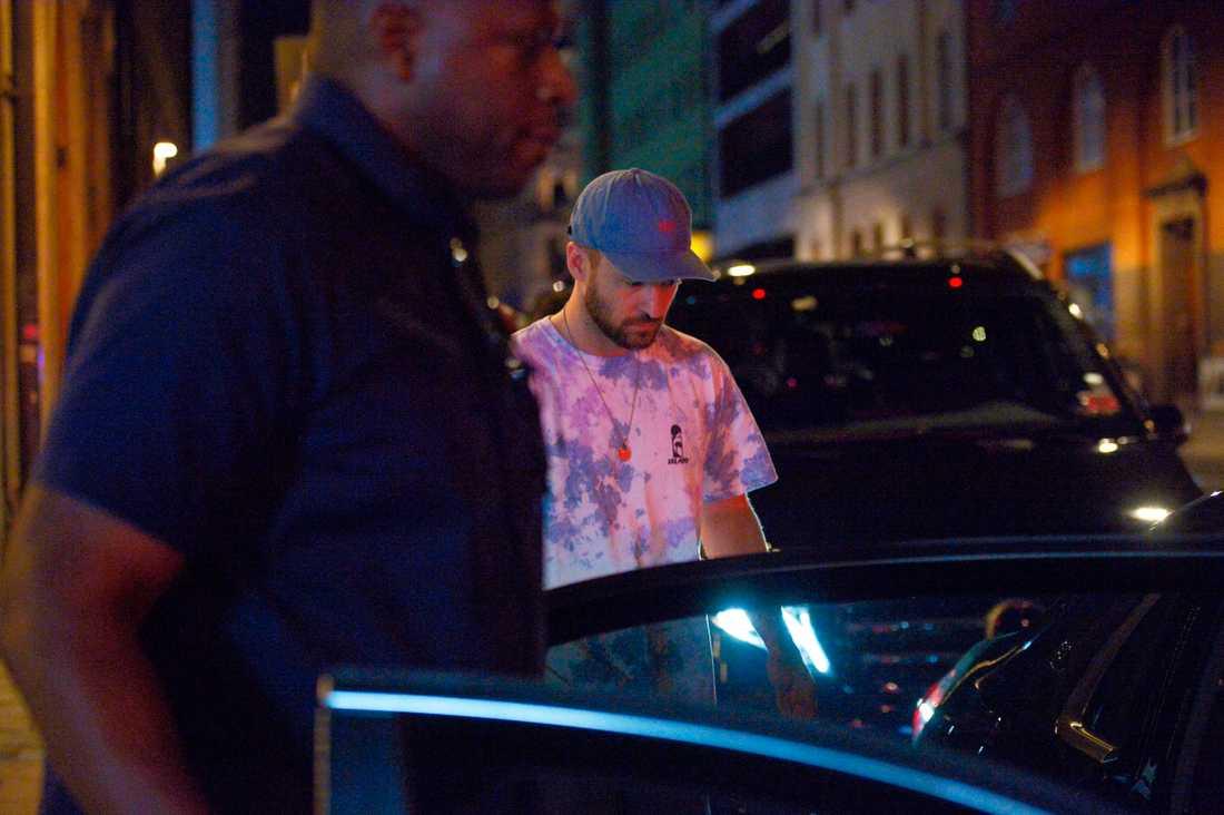 Justin Timberlake i Stockholm på lördagskvälen.