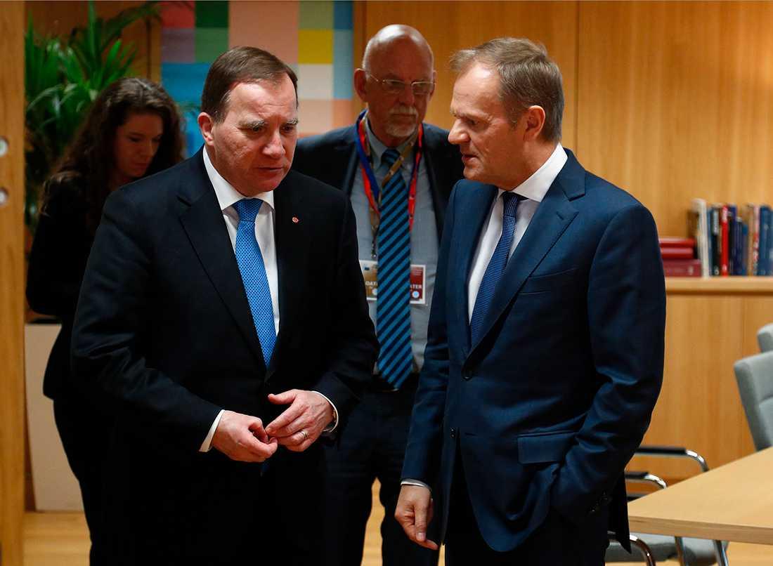 Stefan Löfven och Donald Tusk.