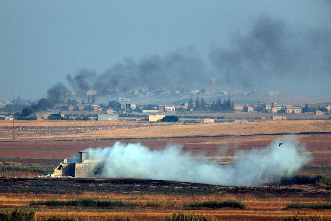 Bild tagen i Turkiet mot Syriens gräns.
