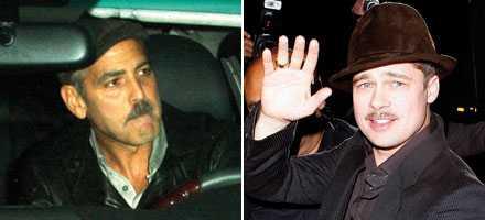 Mustaschmän George Clooney och Brad Pitt.