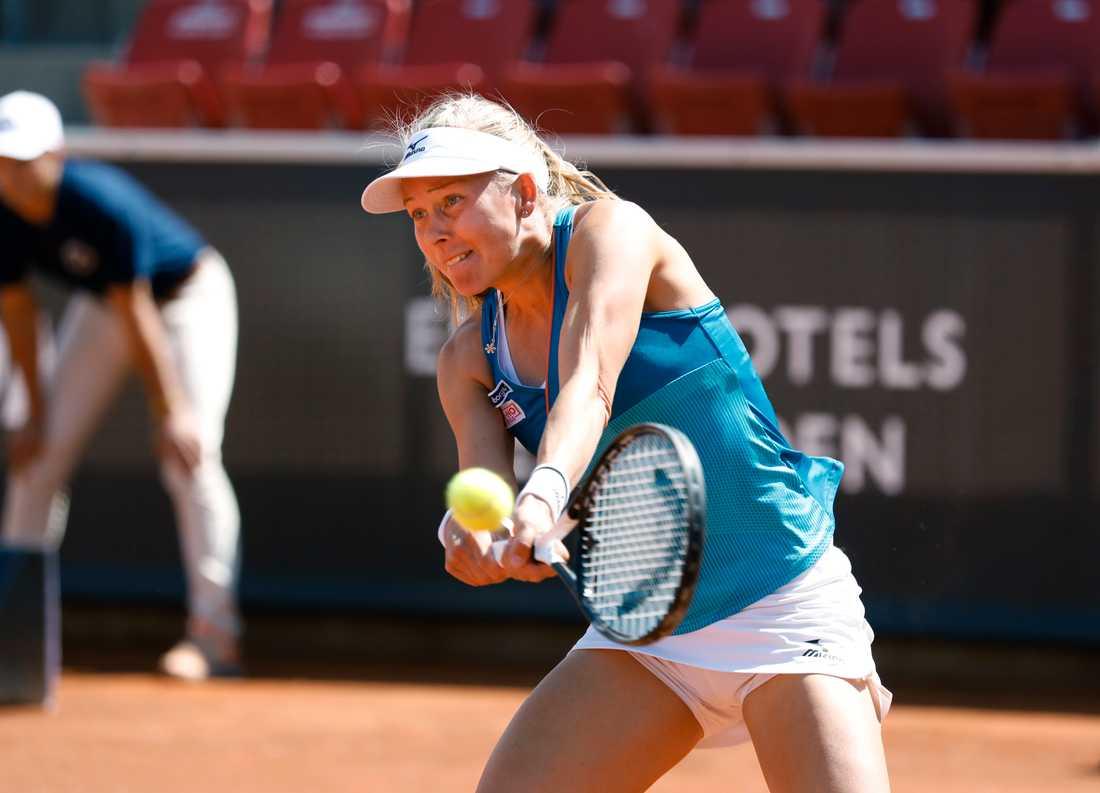 Johanna Larsson under Swedish Open i Båstad i juli.