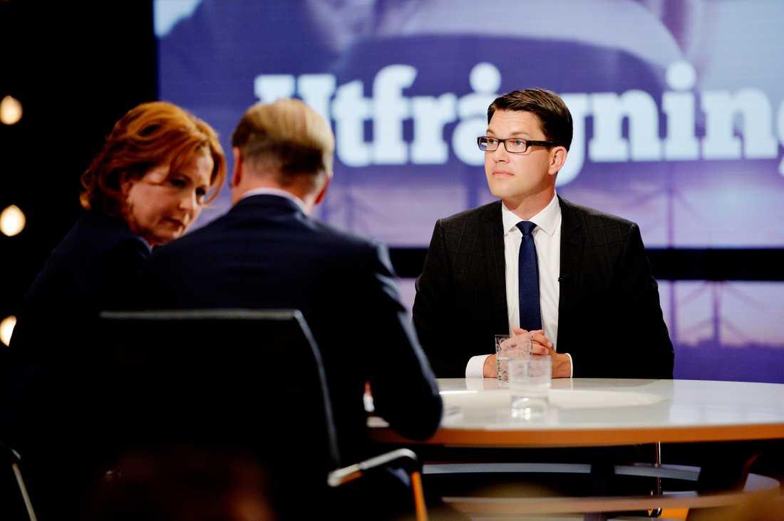 Jimmie Åkesson i SVT:s Utfrågningen.