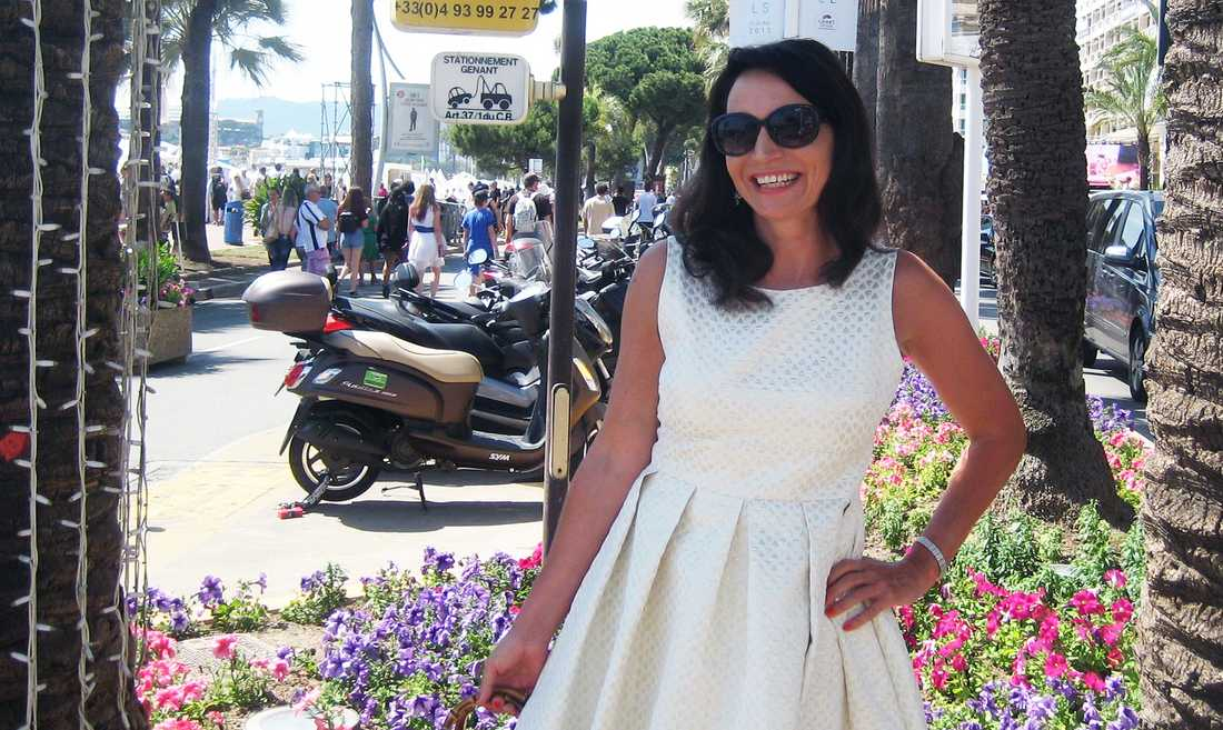 Martina Haag i Cannes.