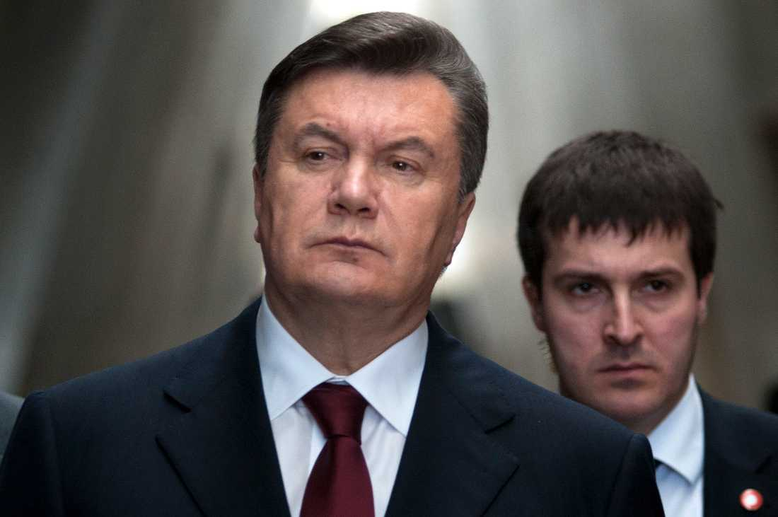 Ukrainas expresident Viktor Janukovytj 2011. Arkivbild.