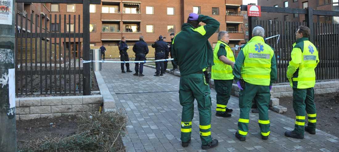 Kvinnan knivskars på fredag eftermiddag i centrala Malmö.