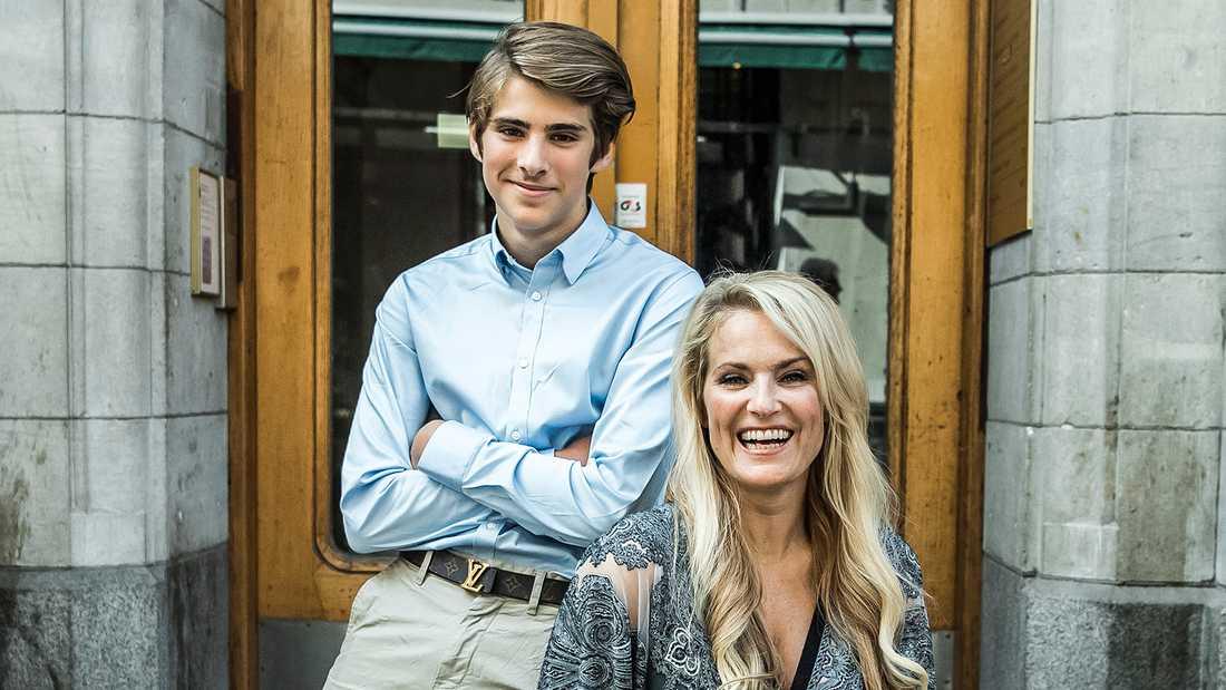 Laila Bagge med sonen Liam.
