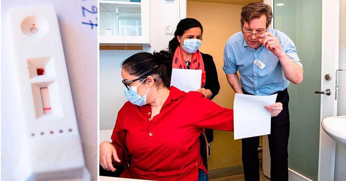 De testar antikroppar på vårdpersonal