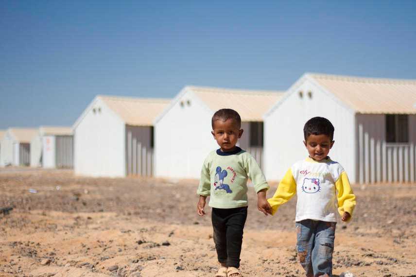 Runt 40 000 personer bor i lägret men det kan byggas ut för att ta emot 120 000.