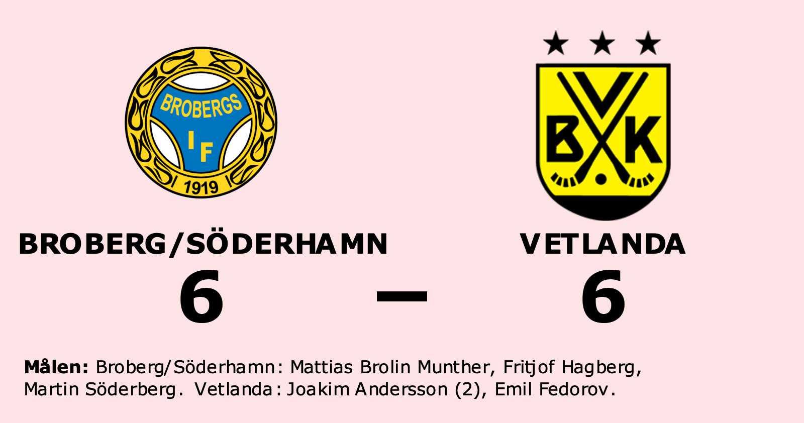 Broberg/Söderhamn kryssade mot Vetlanda
